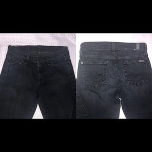 7 for all mankind straight leg dark dark blue jean